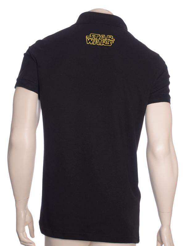 Camisa Polo Star Wars Preta 8477b1a9675c0